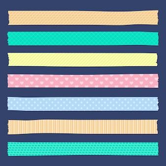 Tema de colección de cintas washi