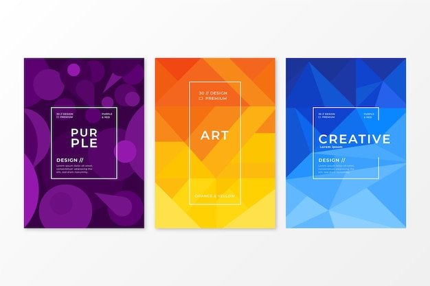 Tema de colección de cubierta geométrica abstracta