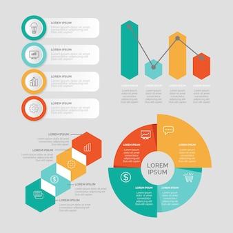 Tema de colección de elementos de infografía