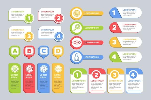 Tema de colección de elementos infográficos