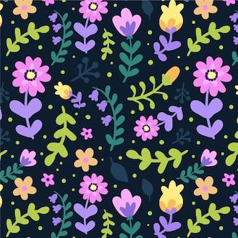 Tema de colección de estampado floral