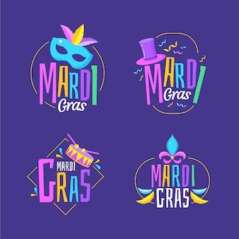 Tema de colección de etiquetas de carnaval
