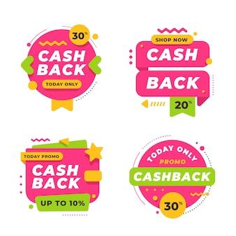 Tema de colección de etiquetas cashback