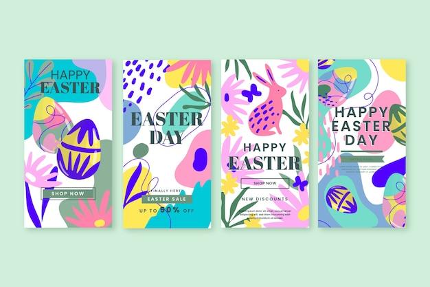 Tema de la colección de historias de instagram del día de pascua