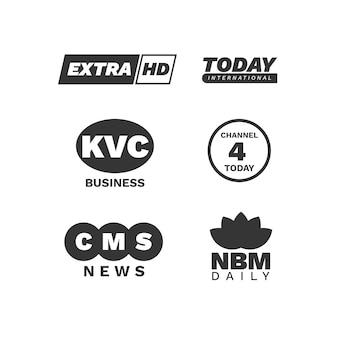 Tema de colección de logotipo de noticias
