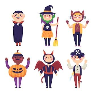 Tema de colección de niños de halloween