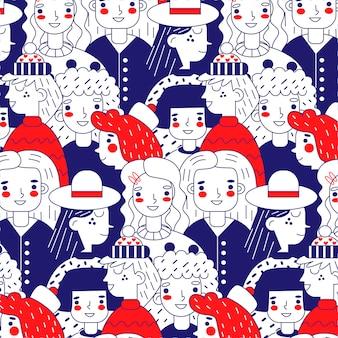 Tema de colección de patrones del día de las mujeres