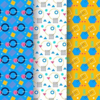 Tema de colección de patrones de memphis
