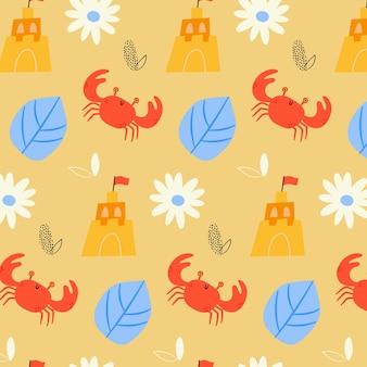 Tema de colección de patrones de verano