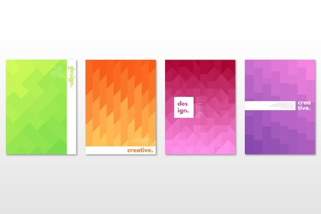 Tema de colección de portada geométrica