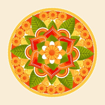 Tema de decoración floral onam
