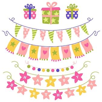 Tema de decoraciones de cumpleaños de aniversario