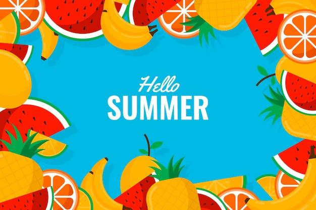 Tema decorativo de fondo de verano