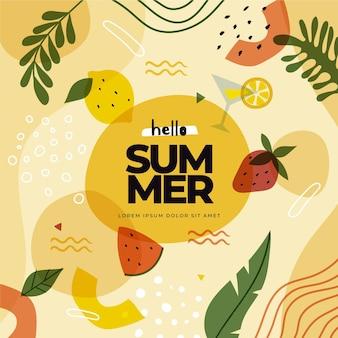 Tema decorativo de papel tapiz de verano