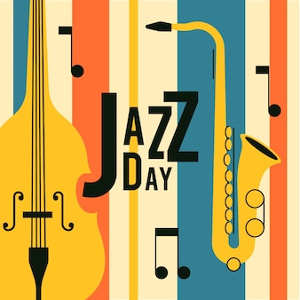 Tema del día internacional del jazz vintage