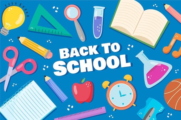 Tema de dibujo de fondo de regreso a la escuela