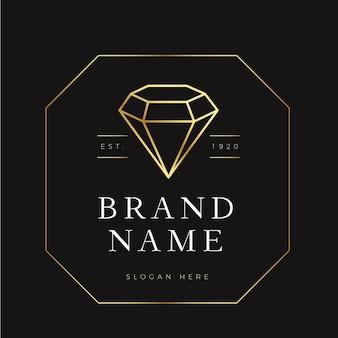 Tema elegante del logo de diamantes