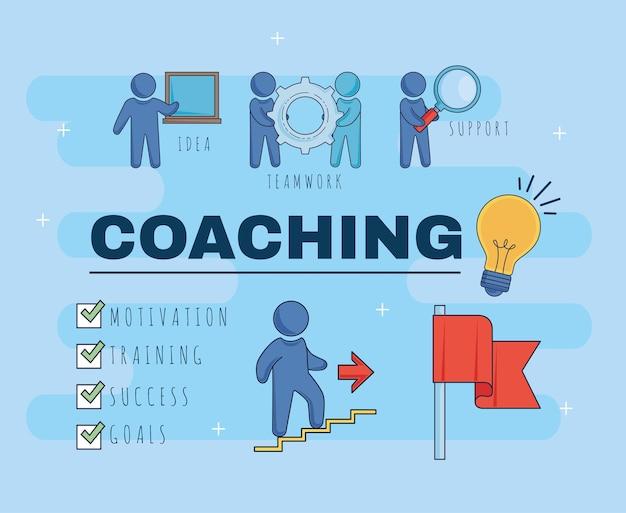 Tema empresarial de coaching