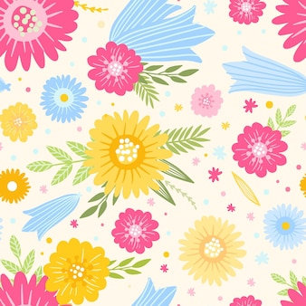 Tema del estampado de flores