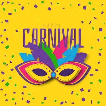 Tema de evento de carnaval de diseño plano