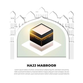 Tema de evento de peregrinación islámica