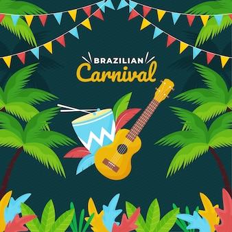 Tema festivo del carnaval brasileño