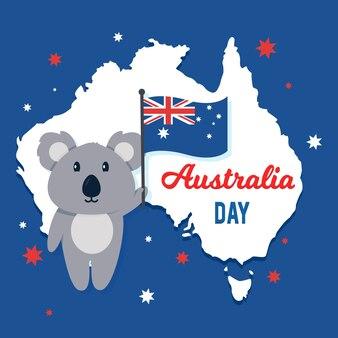 Tema festivo para el diseño del día de australia