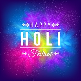 Tema festivo realista del festival holi