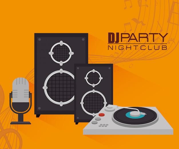 Tema de la fiesta dj musica