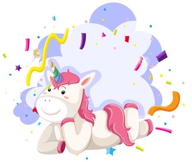 Un tema de fiesta de personaje unicornio