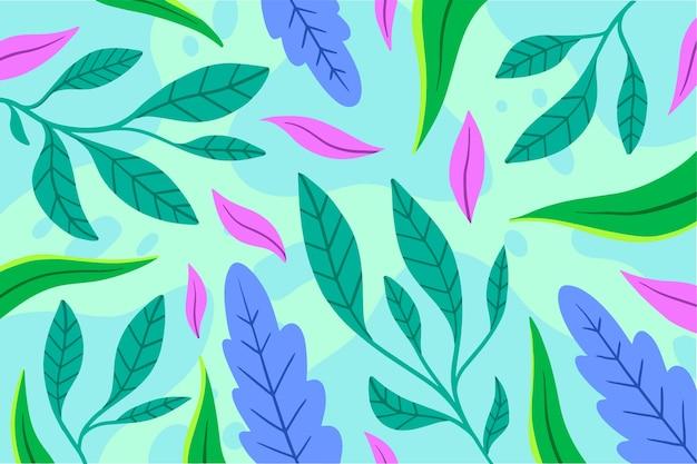 Tema floral abstracto diseño plano para fondo