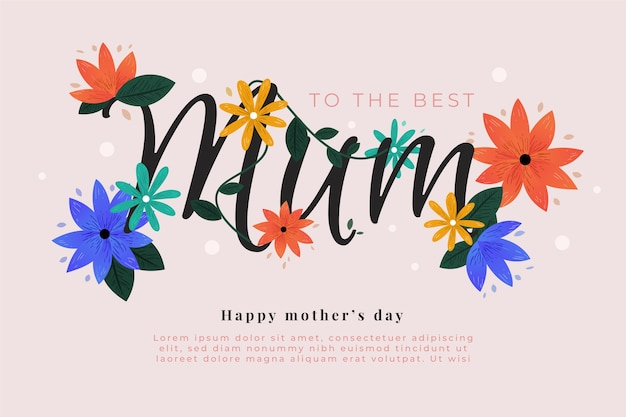 Tema floral del día de la madre