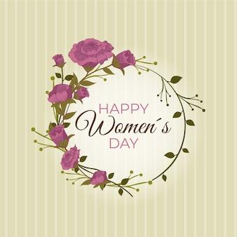 Tema floral del día de las mujeres