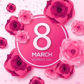 Tema floral para el evento del día de la mujer.