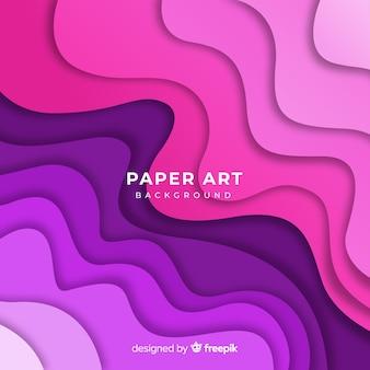 Tema de fondo de arte de papel degradado
