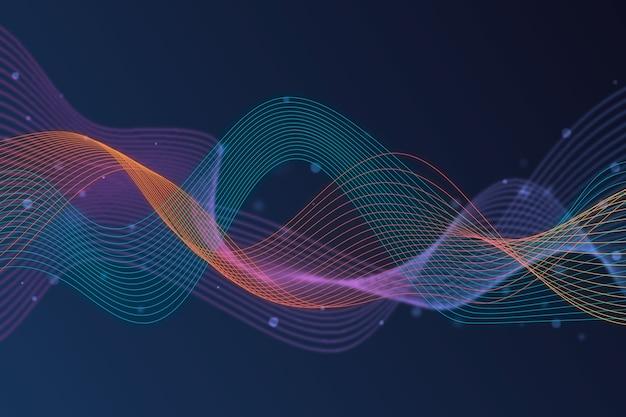 Tema de fondo colorido onda ecualizador