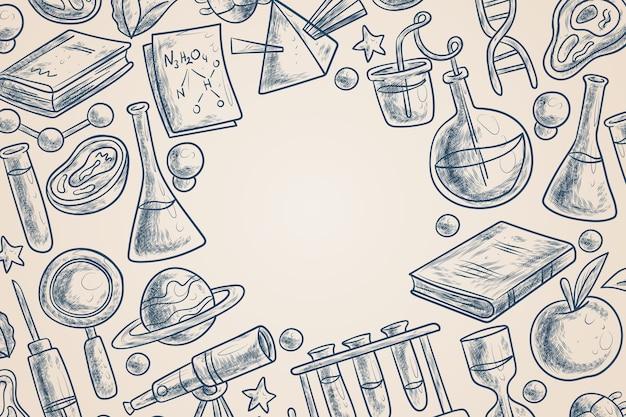 Tema de fondo de educación científica vintage