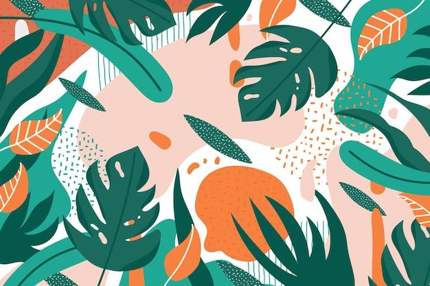 Tema de fondo floral abstracto