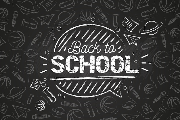 Tema de fondo de pantalla blackboard back to school