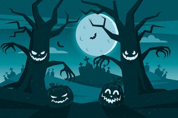 Tema de fondo de pantalla de halloween de grunge