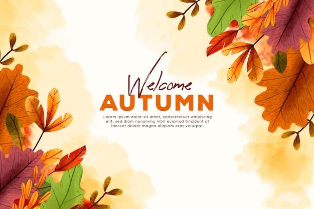 Tema de fondo de pantalla de otoño