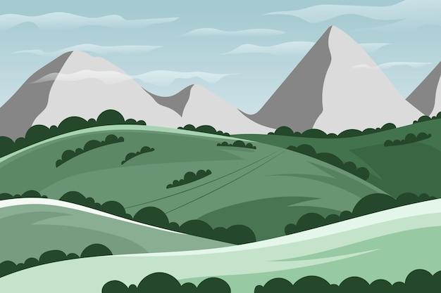 Tema de fondo de pantalla de paisaje natural