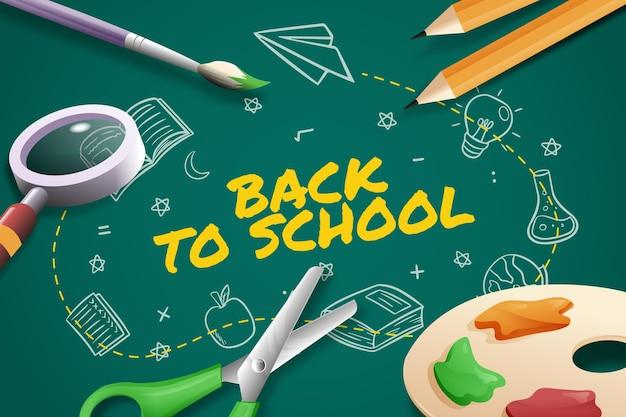 Tema de fondo de pantalla de regreso a la escuela