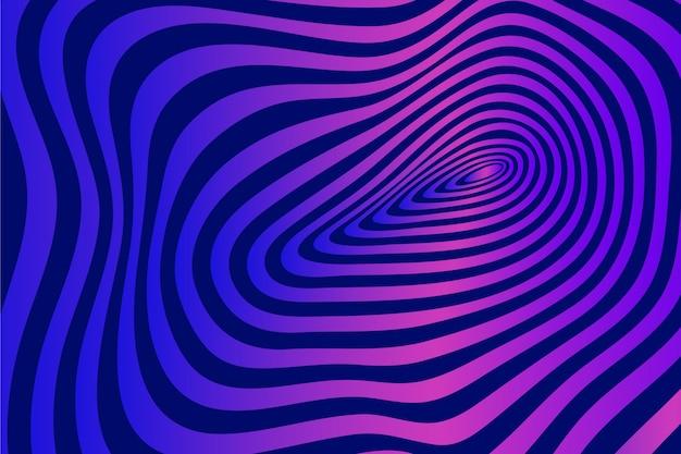 Tema de fondo psicodélico ilusión óptica