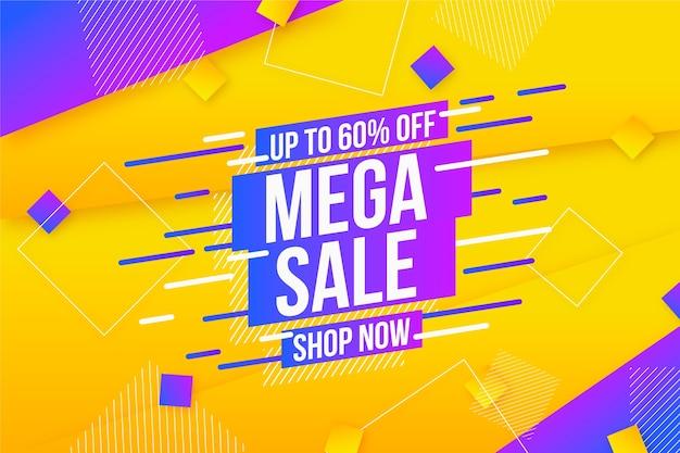 Tema de fondo de ventas promocionales colorido abstracto