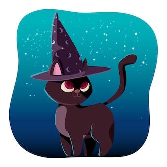 Tema de gato de halloween