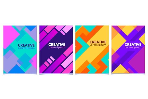 Tema geométrico abstracto de la colección de portadas