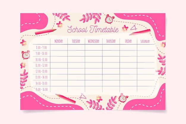 Tema del horario de regreso a la escuela