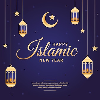 Tema de ilustración de año nuevo islámico