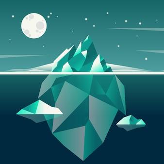 Tema de ilustración del concepto de iceberg